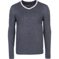 Swetry klasyczne męskie: Sweter w kolorze ciemnoszarym