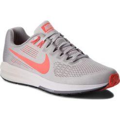 Buty NIKE - Air Zoom Structure 21 904695 006 Vast Grey/Bright Crimson. Szare buty do biegania męskie Nike, z materiału, nike zoom. W wyprzedaży za 379,00 zł.