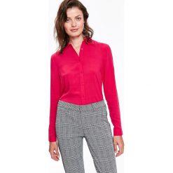 WISKOZOWA KOSZULA Z DŁUGIM RĘKAWEM. Szare koszule wiązane damskie Top Secret, na jesień, z wiskozy, z długim rękawem. Za 89,99 zł.