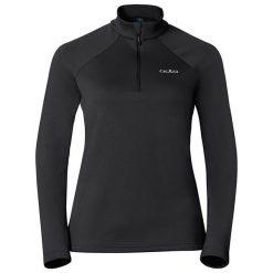 Odlo Bluza damska Midlayer 1/2 zip Snowbird czarna r. M (222001). Czarne bluzy sportowe damskie marki Odlo, m. Za 90,90 zł.