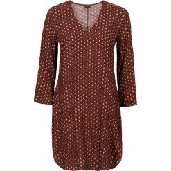 Sukienki: Sukienka bonprix brązowy wzorzysty