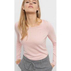 Lekki sweter z wiązaniem. Fioletowe swetry klasyczne damskie marki Orsay, xs, z bawełny, z dekoltem na plecach. Za 59,99 zł.