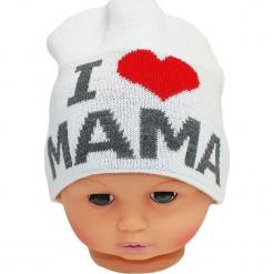 Czapka niemowlęca z napisem mama CZ 161B. Szare czapeczki niemowlęce Proman, z napisami. Za 30,75 zł.