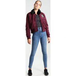Bluzki asymetryczne: Ragwear DROP PRINT ORGANIC Bluzka z długim rękawem black melange