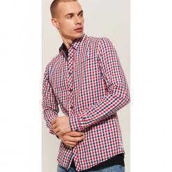 Twillowa koszula w kratkę - Czerwony. Szare koszule męskie w kratę marki House, l, z bawełny. Za 79,99 zł.