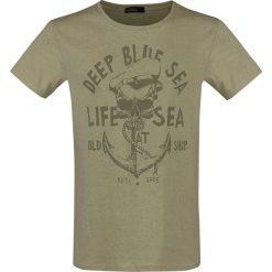 T-shirty męskie: Urban Surface Old Ship T-Shirt oliwkowy