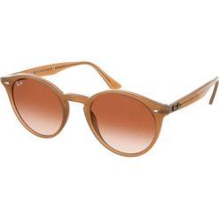 """Okulary przeciwsłoneczne męskie: Okulary męskie """"Loop"""" w kolorze beżowo-brązowym"""