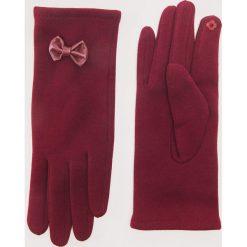 Rękawiczki z kokardkami - Bordowy. Czerwone rękawiczki damskie House. Za 29,99 zł.