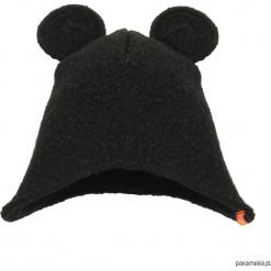 Czapka zimowa zakrywająca uszy - czarny. Czerwone czapeczki niemowlęce marki Pakamera, z dzianiny. Za 79,00 zł.