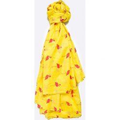 Answear - Chusta City Jungle. Żółte chusty damskie ANSWEAR, z bawełny. W wyprzedaży za 29,90 zł.