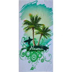 Kąpielówki męskie: Ręcznik w kolorze biało-zielonym