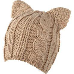 Czapka damska  Kocie uszka beżowa. Brązowe czapki zimowe damskie marki Art of Polo. Za 36,52 zł.