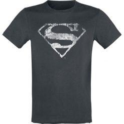 T-shirty męskie: Superman Logo Mono Distressed (White Noise) T-Shirt ciemnoszary