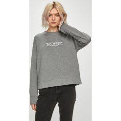 Tommy Hilfiger - Bluza. Szare bluzy z nadrukiem damskie marki TOMMY HILFIGER, l, z bawełny, bez kaptura. Za 299,90 zł.