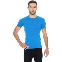 Brubeck Koszulka męska z krótkim rękawem ACTIVE WOOL niebieski r. XXL (SS11710). Niebieskie koszulki sportowe męskie marki Brubeck, m. Za 108,99 zł.