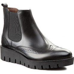 Sztyblety NESSI - 703/N Czarny 14. Czarne buty zimowe damskie marki Nessi, z materiału, na obcasie. W wyprzedaży za 239,00 zł.