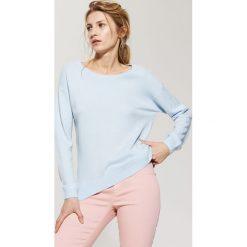 Gładki sweter - Niebieski - 2