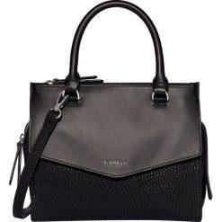 Fiorelli - Torebka. Czarne torebki klasyczne damskie marki Fiorelli, w paski, z materiału, średnie. Za 319,90 zł.