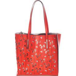 Torebki klasyczne damskie: Skórzana torebka w kolorze czerwonym – (S)33 x (W)55 x (G)12 cm