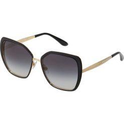 Dolce&Gabbana Okulary przeciwsłoneczne matte black/goldcoloured. Czarne okulary przeciwsłoneczne damskie Dolce&Gabbana. Za 1069,00 zł.