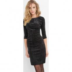 Aksamitna sukienka z brokatem. Brązowe sukienki balowe marki Orsay, s, z dzianiny. Za 139,99 zł.