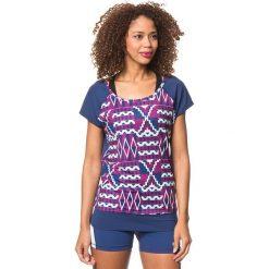"""Koszulka funkcyjna """"Clarity"""" w kolorze granatowo-fioletowym. Niebieskie topy sportowe damskie marki Roxy, xs, z materiału, z krótkim rękawem. W wyprzedaży za 84,95 zł."""