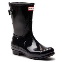Kalosze HUNTER - Org Back Adj Short Gloss WFS1013RGL Black. Czarne buty zimowe damskie Hunter, z kauczuku. Za 529,00 zł.
