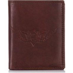 Brązowy Skórzany portfel męski Tillberg Wild's. Brązowe portfele męskie Wild, z materiału. Za 79,90 zł.