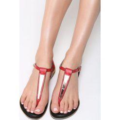 Czerwone Sandały Unruffled. Czerwone sandały damskie vices, na płaskiej podeszwie. Za 69,99 zł.