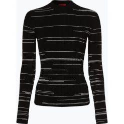 HUGO - Sweter damski – Spatchy, czarny. Czarne swetry klasyczne damskie HUGO, l, prążkowane. Za 579,95 zł.