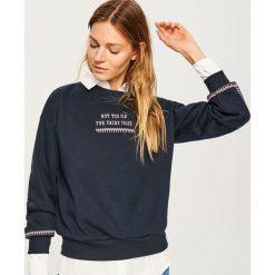 Bluza NOT TOO OLD FOR FAIRY TALES - Granatowy. Czarne bluzy damskie marki KIPSTA, m, z materiału. Za 79,99 zł.