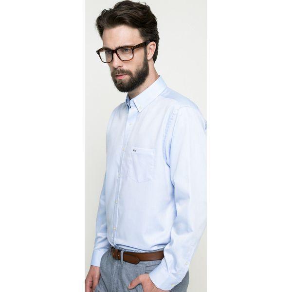 130afa54e Lacoste - Koszula - Szare koszule męskie Lacoste, z bawełny, button down, z  długim rękawem. W wyprzedaży za 299,90 zł. - Koszule męskie - Odzież męska  ...
