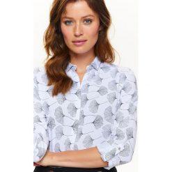 Koszule damskie: KOSZULA ROZPINANA W BIAŁO CZARNY NADRUK
