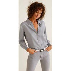 Mango - Koszula Grey. Szare koszule wiązane damskie Mango, l, z lyocellu, klasyczne, z klasycznym kołnierzykiem, z długim rękawem. Za 139,90 zł.
