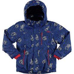 Kurtka narciarska w kolorze granatowo-niebiesko-czerwonym. Niebieskie kurtki chłopięce marki CMP Kids. W wyprzedaży za 212,95 zł.