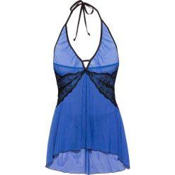 Bielizna nocna: Koszulka nocna + stringi (2 części) bonprix błękit królewski-czarny