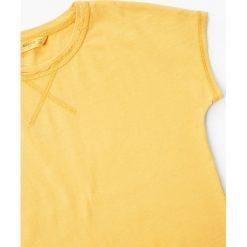 Mango Kids - Top dziecięcy Viole 110-164 cm. Szare bluzki dziewczęce marki Mango Kids, z bawełny, z okrągłym kołnierzem. W wyprzedaży za 19,90 zł.