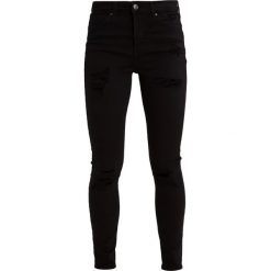 Topshop SUPER RIP JAMIE NEW Jeans Skinny Fit black. Czarne rurki damskie Topshop. Za 269,00 zł.