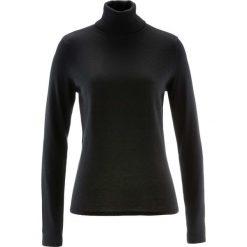 Sweter z golfem i kaszmirem bonprix czarny. Czarne golfy damskie bonprix, z kaszmiru. Za 109,99 zł.