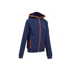 Bluza 980 Gym. Szare bluzy dziewczęce rozpinane marki DOMYOS, z elastanu, z kapturem. Za 79,99 zł.