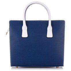 Torebki klasyczne damskie: Skórzana torebka w kolorze granatowym – (S)33 x (W)38 x (G)14 cm
