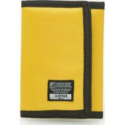 Portfele męskie: Materiałowy portfel – Żółty