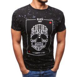 T-shirty męskie z nadrukiem: T-shirt męski z nadrukiem czarny (rx2800)
