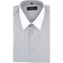 Koszula ARMANDO slim 13-10-11. Białe koszule męskie na spinki Giacomo Conti, m, w prążki, z bawełny, z klasycznym kołnierzykiem, z długim rękawem. Za 199,00 zł.