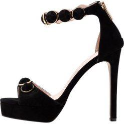 Carvela GILLY Sandały na obcasie black. Czarne sandały damskie Carvela, z materiału, na obcasie. Za 669,00 zł.