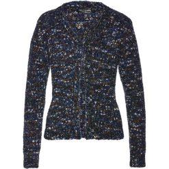Sweter rozpinany bonprix ciemnoniebiesko-czarno-biały. Niebieskie kardigany damskie marki bonprix. Za 59,99 zł.