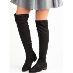 Buty zimowe damskie: CZARNE KOZAKI MUSZKIETRKI