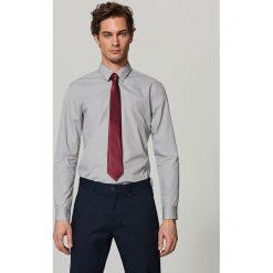 Elegancka koszula z tkaniny poplin - Jasny szar. Szare koszule męskie marki House, l, z bawełny. Za 79,99 zł.
