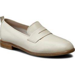 Półbuty CLARKS - Alania Belle 261230404 White Leather. Brązowe półbuty damskie skórzane marki Clarks, na płaskiej podeszwie. W wyprzedaży za 239,00 zł.