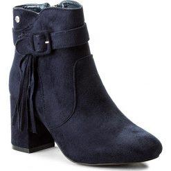 Botki BIG STAR - Y274308 Navy. Niebieskie buty zimowe damskie BIG STAR, z materiału, retro. W wyprzedaży za 159,00 zł.